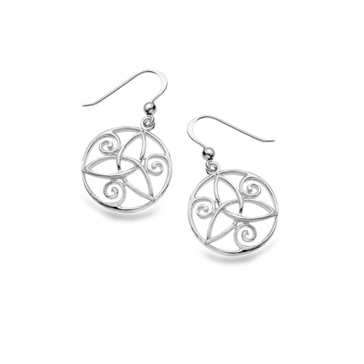 Trinity knot swirl earrings