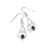 LAPIS LOVE KNOT EARRINGS