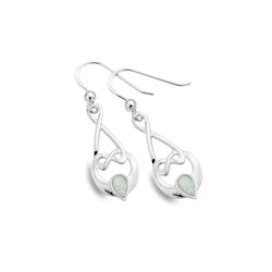 Opalite love knot earrings