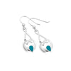 Turquoise love knot earrings
