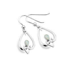Opalite love knot drop earrings