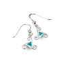 Turquoise trinity knot earrings
