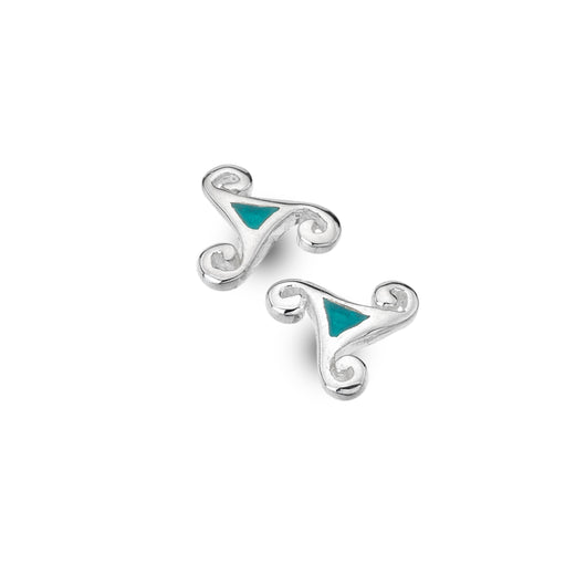 Turquoise trinity knot studs