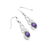 Amethyst celtic heritage earrings