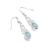 BLUE CHALCEDONY CELTIC HERITAGE earrings