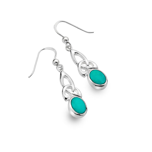 Turquoise celtic heritage earrings