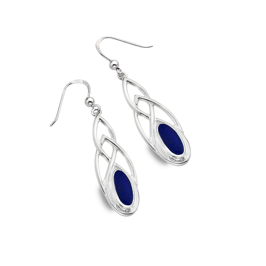 Lapis lazuli celtic earrings