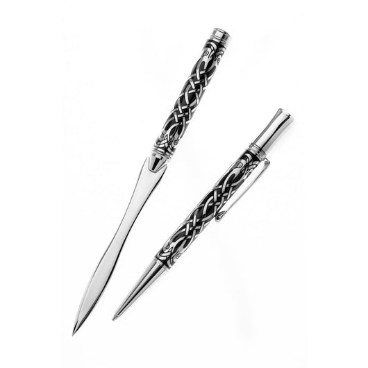 Ballpoint Pens - Celtic Bird Etched Ballpoint And Letter Opener Set
