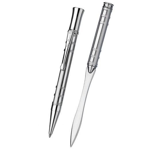 Ballpoint Pens - Mackintosh Lattice Tube Etched Ballpoint And Letter Opener Set