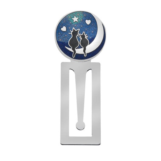 Bookmarks - Cats On The Moon Enamel Bookmark
