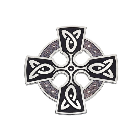 Brooches - Celtic Cross Head Brooch With Knot Detail
