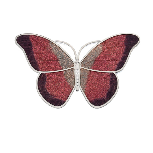 Brooches - Large Red Butterfly Brooch