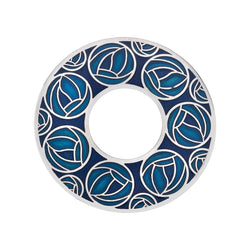 Brooches - Mackintosh Turquoise Roses Annulus Brooch