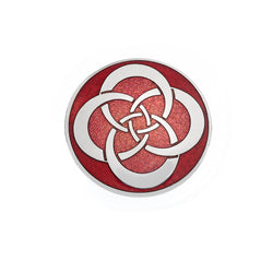 Brooches - Red Round Celtic Knot Brooch
