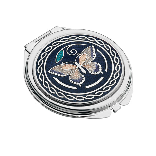 Compact Mirrors - Butterfly Enamel Compact Mirror