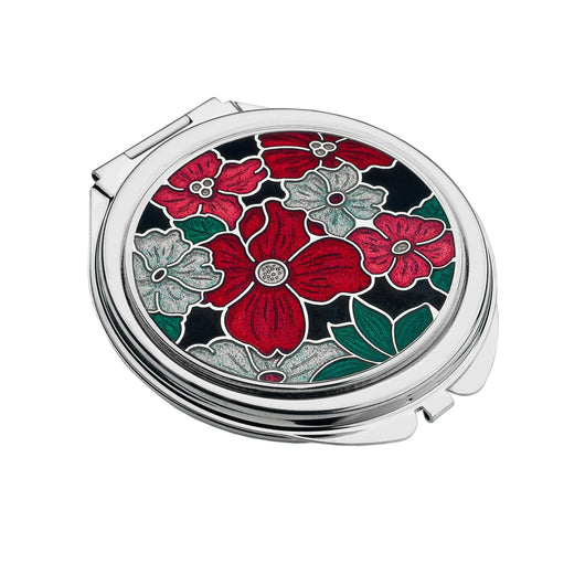 Compact Mirrors - Multi Flower Enamel Compact Mirror