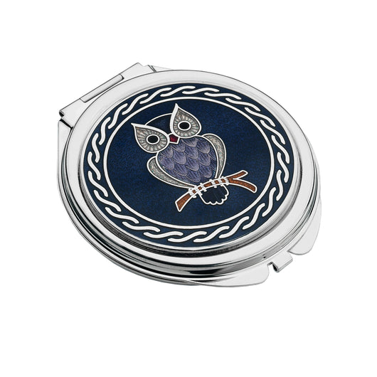 Compact Mirrors - Purple Owl Enamel Compact Mirror