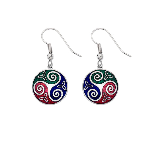 Earrings - Celtic Trinity & Triskele Earrings