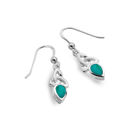 Earrings - December - Turquoise (Reconstituted Stone) - Birthstone Earrings