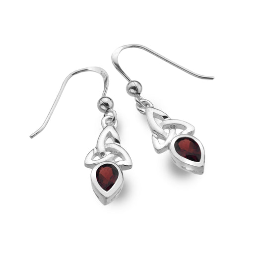 Earrings - January - Garnet - Birthstone Earrings