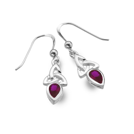 Earrings - July - Ruby (Synthetic Stone) - Birthstone Earrings