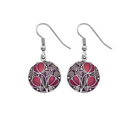 Earrings - Mackintosh Leaves And Coils Earrings