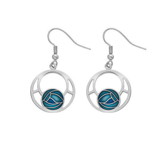 Earrings - Mackintosh Round Rose Earrings
