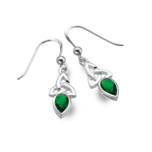 Earrings - May - Emerald (Synthetic Stone) - Birthstone Earrings