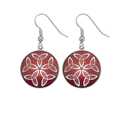 Earrings - Red Trinity Knot Earrings