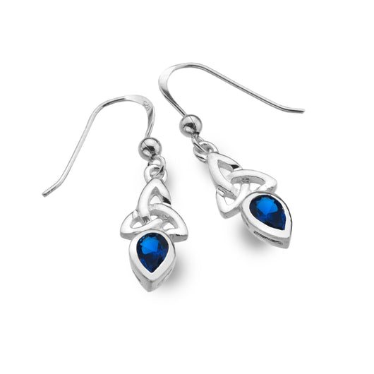 Earrings - September - Sapphire (Synthetic Stone) Birthstone Earrings