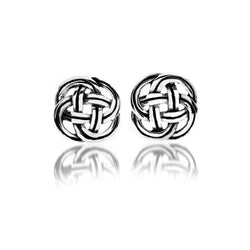 Jewellery - Sterling Silver Celtic Knot With Lines Detail Studs