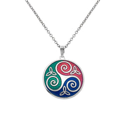 Necklaces - Celtic Trinity & Triskele Necklace