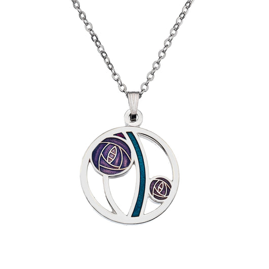 Necklaces - Mackintosh Purple Rose Cut Out Necklace