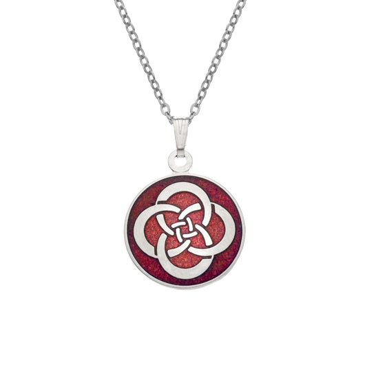 Necklaces - Red Round Celtic Knot Necklace