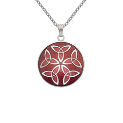 Necklaces - Red Trinity Knot Necklace