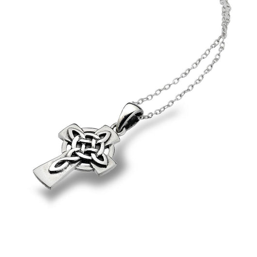 Pendants - Sterling Silver Celtic Cross With Knotwork Detail