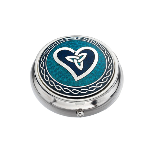 Pillboxes - Celtic Heart & Trinity Enamel Pillbox