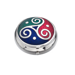 Pillboxes - Celtic Triskele Multi Colour Enamel Pillbox