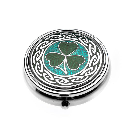Pillboxes - Irish Shamrock Enamel Large Pillbox
