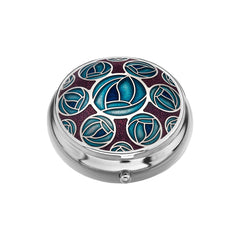 Pillboxes - Mackintosh Multiple Roses  Enamel Pillbox