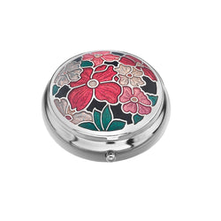 Pillboxes - Multi Flower Enamel Pillbox