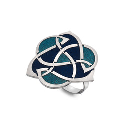 Scarf Rings - Archibold Knox Style Blue Scarf Ring