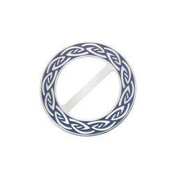 Scarf Rings - Endless Celtic Knot Blue Scarf Ring
