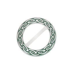 Scarf Rings - Endless Celtic Knot Green Scarf Ring