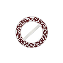 Scarf Rings - Endless Celtic Knot Red Scarf Ring
