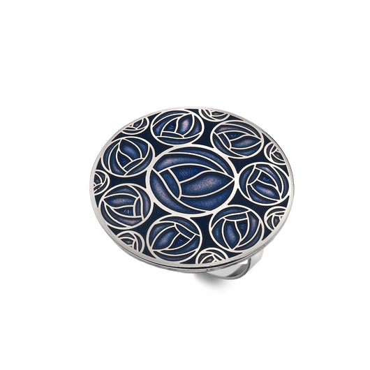 Scarf Rings - Mackintosh Multiple Blue Roses Scarf Ring