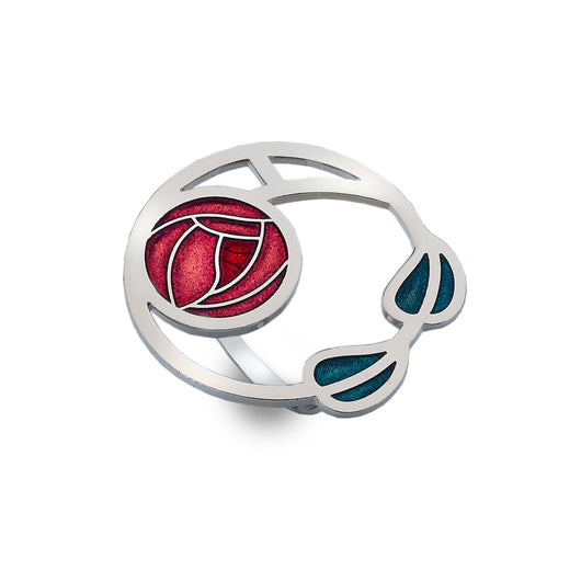 Scarf Rings - Mackintosh Rose And Leaves Scarf Ring