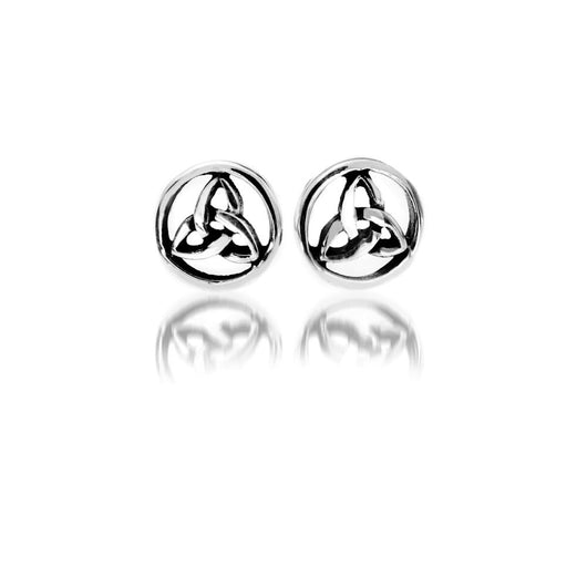 Studs - Sterling Silver Celtic Trinity Knot Round Studs