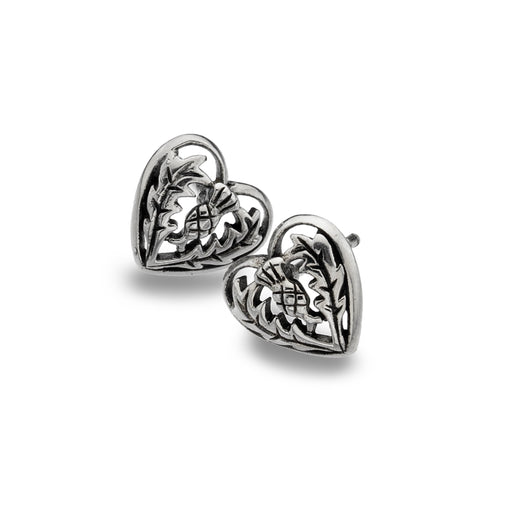 Studs - Thistle Love Heart Studs