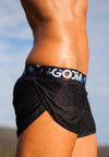 GODIIVA PRO RUNNING SHORTS - BLACK PALM